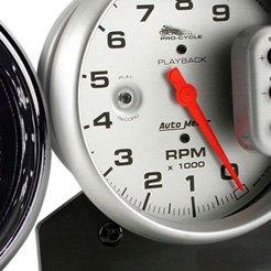 8K Rpm//120 Mph Auto Meter AutoMeter 19466 Gauge Tach//Speedo Pro-Cycle Black 4 1//2