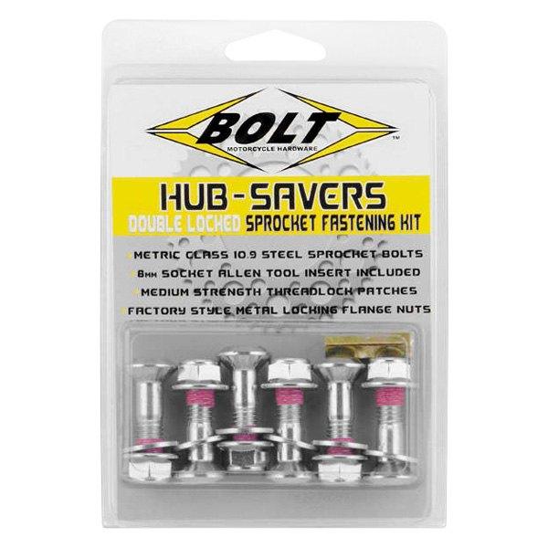 2008-HS.S Silver Hub-Savers Sprocket Fastener Bolt Motorcycle Hardware