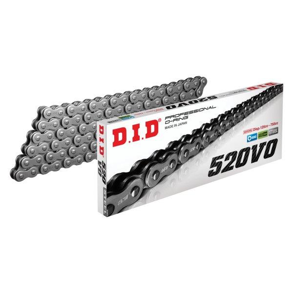 D.I.D 520VO X 110 520VO Pro V Series O-Ring Chain Chain Type: 520 Chain Length: 110 110 Links Chain Application: Street