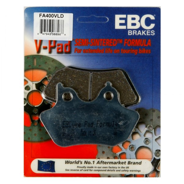 EBC VLD Semi-Sintered Limited Edition Chrome-Backed Brake Pads ONE Pair FA400VLD