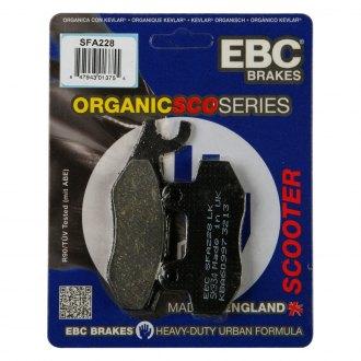 "16/"" Wheels - 2008 to 2015 Kymco Agility 125 EBC Organic FRONT Disc Brake Pads"