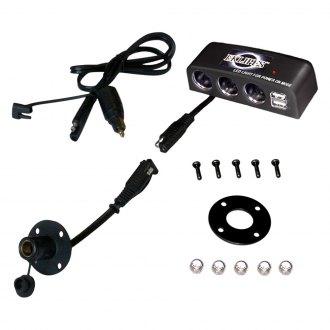 EKLIPES EK1-161B Black Viper Adjustable Dual Ring Handle Bar Mount for 12 Volt Power Socket