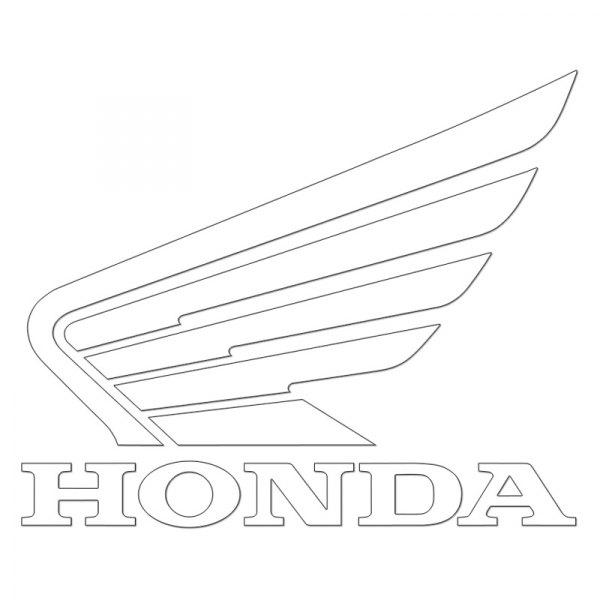 Honda Wing Logo Decal Factory Effex white Vinyl Sticker FX04-2692