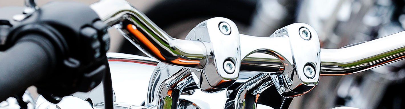 """Smooth Black Straight 4/"""" Rise 1/"""" //25mm Mount Handlebar Risers for Harley"""