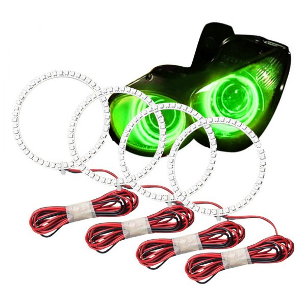 Oracle Lighting® - SMD Green Dual Halo kit for Headlights