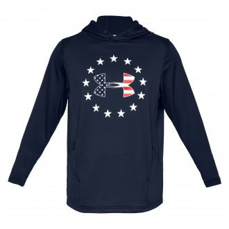 Mens Under Armour Freedom Tech Terry PO Hoodie 1323105-035