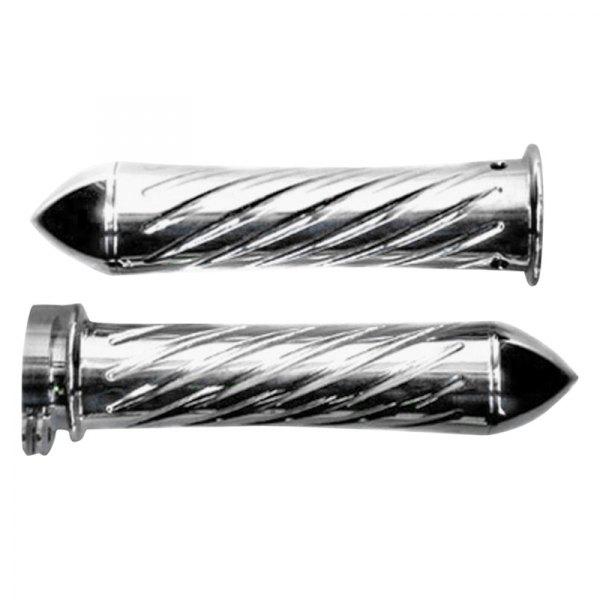 Yana Shiki® - Swirl Custom Straight Chrome Aluminum Grips