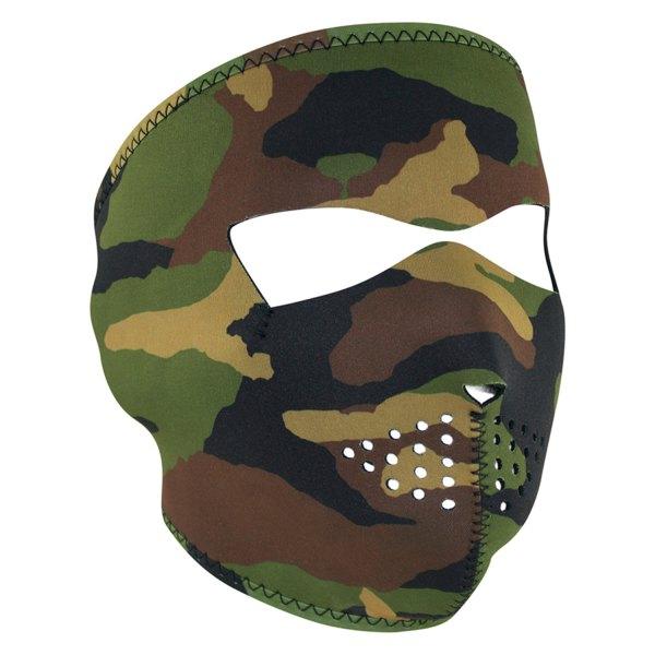 Zanheadgear WNFM118 Woodland Camouflage Neoprene Face Mask